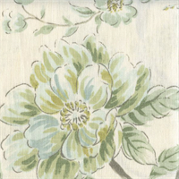 Linen Paint Cream Floral Drapery Fabric Swatch