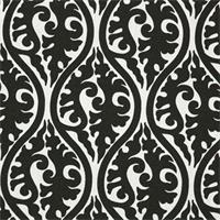 Kimono Black/White by Premier Prints - Drapery Fabric