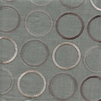 Society Grove Smoke Grey Embroidered Linen Drapery Fabric