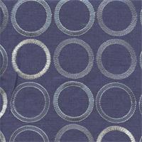 Society Grove Indigo Blue Embroidered Linen Drapery Fabric