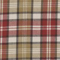 West Abbott London Red Plaid Drapery Fabric