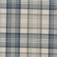 West Abbott Spa Blue Plaid Drapery Fabric