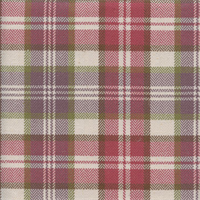 West Abbott Pansy Pink Plaid Drapery Fabric