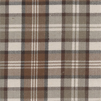 West Abbott Chocolate Brown Plaid Drapery Fabric