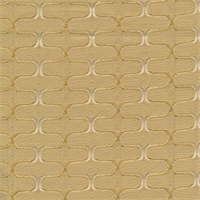 Deco Ziggy Topaz Yellow Contemporary Embossed Faux Silk Fabric