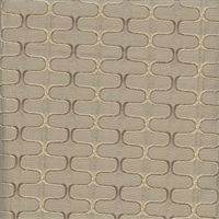 Deco Ziggy Mushroom Grey Contemporary Embossed Faux Silk Fabric