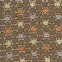 Deco Gatsby Acorn Brown Contemporary Embossed Faux Silk Fabric