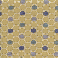 Deco Gatsby Topaz Yellow Contemporary Embossed Faux Silk Fabric