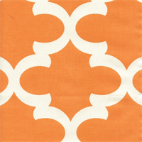 Fynn Apache Orange Macon Drapery Fabric by Premier Prints Swatch