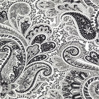 Paisley Black/White by Premier Prints - Drapery Fabric