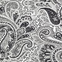 Paisley Black/White by Premier Prints - Drapery Fabric