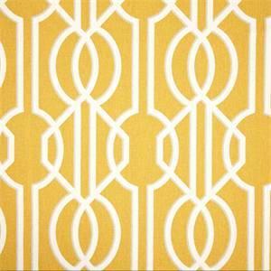 Deco Barley Yellow Contemporary Cotton Print Drapery Fabric by Magnolia