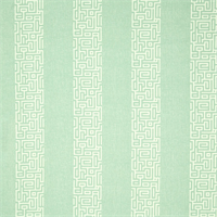 Plaza Spa Green Stripe Cotton Print Drapery Fabric by Premium Prints