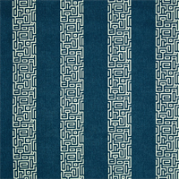 Plaza Navy Blue Stripe Cotton Print Drapery Fabric by Premium Prints