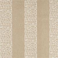 Plaza Linen Tan Stripe Cotton Print Drapery Fabric by Premium Prints