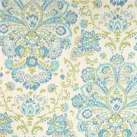 Provence Ocean Blue Floral Cotton Print Drapery Fabric by Premium Prints
