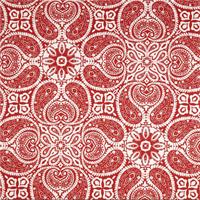Tibi Cayenne Red Paisley Cotton Print Drapery Fabric by Premium Prints
