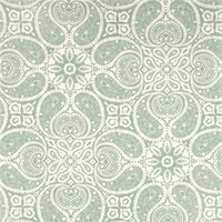 Tibi Spa Green Paisley Cotton Print Drapery Fabric by Premium Prints