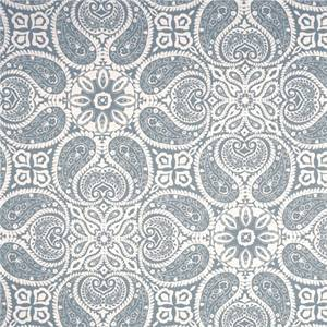 Tibi Sail Blue Paisley Cotton Print Drapery Fabric by Magnolia