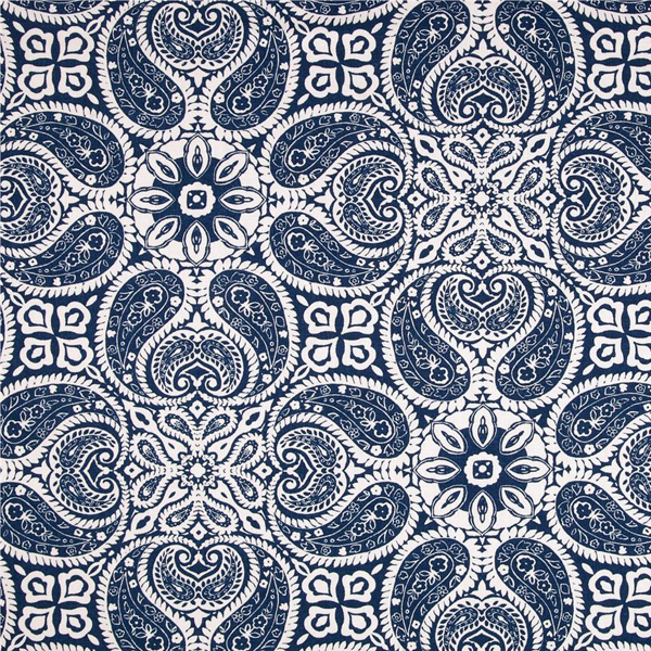 Navy Paisley Bedding Tibi Navy Blue Paisley Cotton