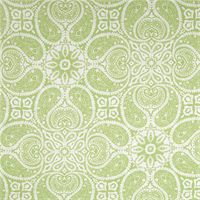Tibi Meadow Green Paisley Cotton Print Drapery Fabric by Premium Prints Swatch