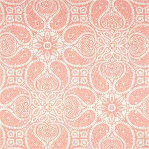 Tibi Flamingo Pink Paisley Cotton Print Drapery Fabric by Premium Prints Swatch