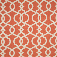 Emory Tangerine Orange Contemporary Cotton Print Drapery Fabric by Magnolia