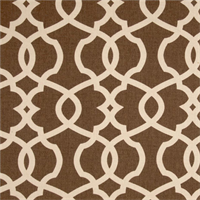 Emory Chocolate Brown Contemporary Cotton Print Drapery Fabric by Premium Prints