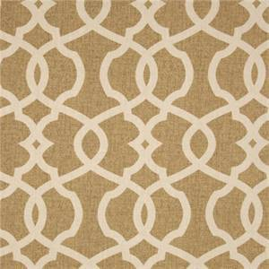 Emory Wheat Tan Contemporary Cotton Print Drapery Fabric by Richtex Premium Prints