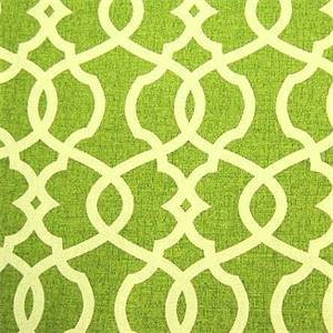 Emory Leaf Green Contemporary Cotton Print Drapery Fabric by Premium Prints