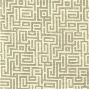 Interlochen Linen Tan Geometric Drapery Fabric By Magnolia