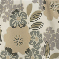 Sydney Smoke Grey Floral Cotton Print Drapery Fabric by Premium Prints Swatch