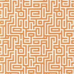 Interlochen Tango Orange Geometric Drapery Fabric By Magnolia
