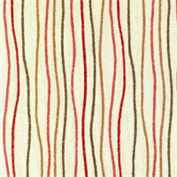 Streamers Russet Red Striped Cotton Print Drapery Fabric by Premium Prints