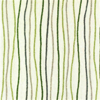 Streamers Vineyard Green Striped Cotton Print Drapery Fabric by Premium Prints