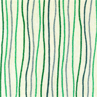 Streamers Ocean Green  Striped Cotton Print Drapery Fabric by Premium Prints