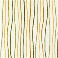 Streamers Sand Yellow  Striped Cotton Print Drapery Fabric by Premium Prints