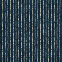 Skyfall Navy Blue Striped Cotton Print Drapery Fabric by Premium Prints