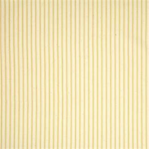 Cottage Yellow Striped Cotton Print Drapery Fabric by Richtex Premium Prints Swatch