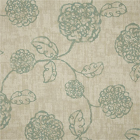 Adele Spa Green Floral Cotton Print Drapery Fabric by Richtex Premium Prints