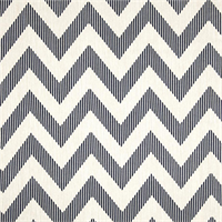 Chevy Navy Blue Chevron Cotton Print Drapery Fabric by Richtex Premium Prints