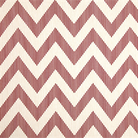 Chevy Red Chevron Cotton Print Drapery Fabric by Richtex Premium Prints