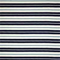 Hamtpton Navy Blue Striped Cotton Print Drapery Fabric by Premium Prints
