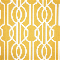 Deco Barley Yellow Contemporary Cotton Print Drapery Fabric by Richtex Premium Prints 30 Yard Bolt