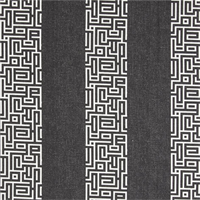 Plaza Onyx Grey Stripe Cotton Print Drapery Fabric by Premium Prints 30 Yard Bolt