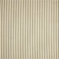 Cottage Grey Striped Cotton Print Drapery Fabric by Richtex Premium Prints 30 Yard Bolt