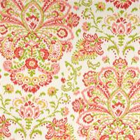 Provence Poppy Orange Floral Cotton Print Drapery Fabric by Premium Prints 30 Yard Bolt