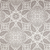 Tibi Slate Grey Paisley Cotton Print Drapery Fabric by Premium Prints 30 Yard Bolt