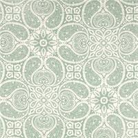 Tibi Spa Green Paisley Cotton Print Drapery Fabric by Premium Prints 30 Yard Bolt
