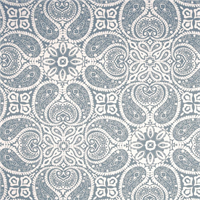 Tibi Sail Blue Paisley Cotton Print Drapery Fabric by Premium Prints 30 Yard Bolt